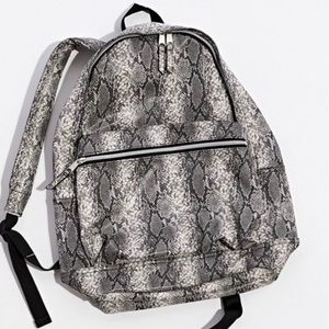 Snake Skin Faux Leather Backpack